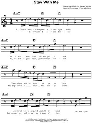 how will i know sam smith sheet music pdf