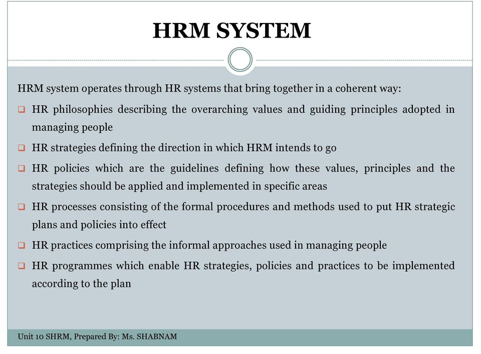 human resource policies and practices pdf