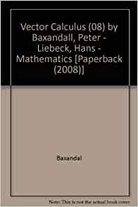 vector calculus by peter baxandall and hans liebeck pdf