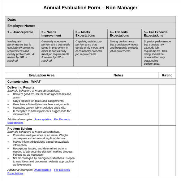 employee annual review form pdf